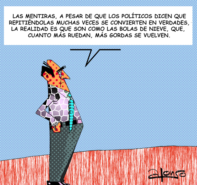 LOS POLITICOS Y LAS METIRAS