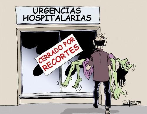"""""""…el boletín del Sindicato de Médicos de Cataluña pidió a sus miembros cuál creían que era la causa del enorme aumento de la mortalidad en Cataluña. Un 78 por ciento de los médicos afirmó que eran """"los recortes sanitarios"""" de la Generalidad…"""""""