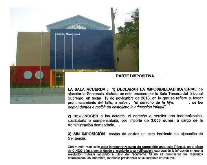 La Generalitat Pagará Daños Y Perjuicios A Una Familia Por No Escolarizar En Castellano