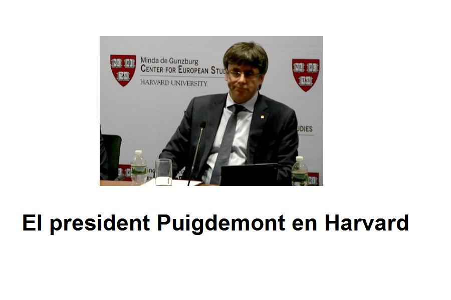 Puigdemont En Harvard