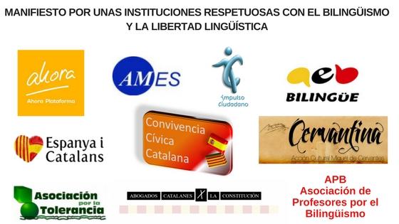 Manifiesto Por Unas Instituciones Catalanas Respetuosas Con El Bilingüismo Y La Libertad Lingüística