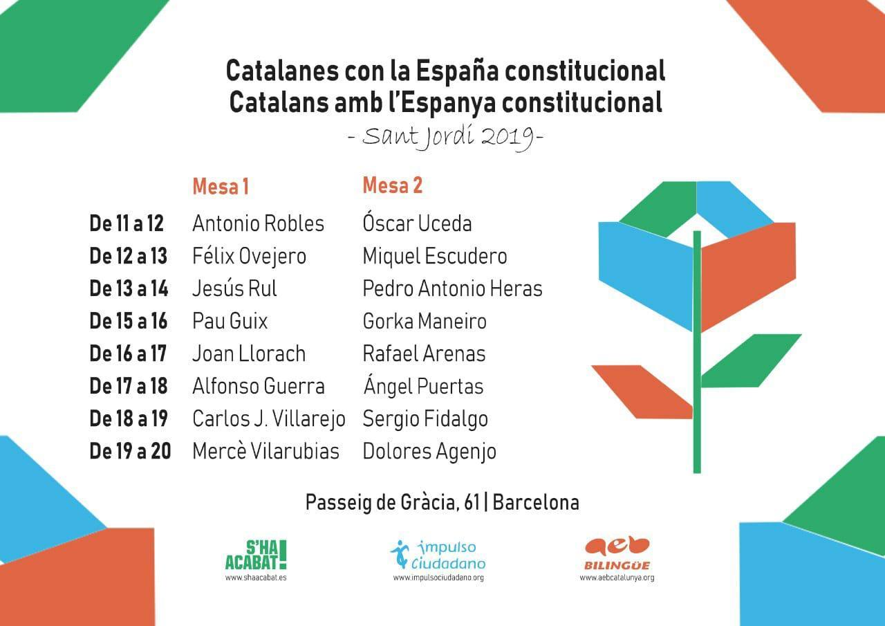 Impulso Ciudadano Celebrará El Día De Sant Jordi 2019