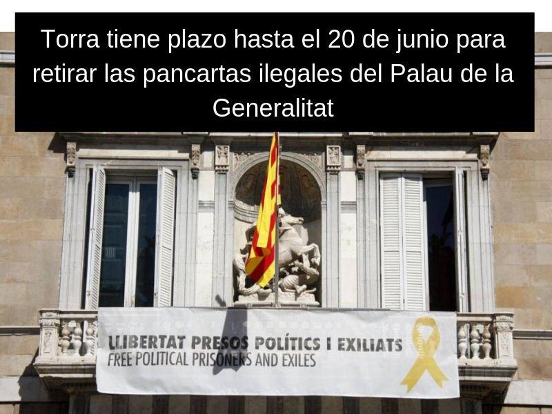 Impulso Ciudadano Llevará A Torra Al TSJC Si No Retira La Pancarta De Apoyo A Los Políticos Presos