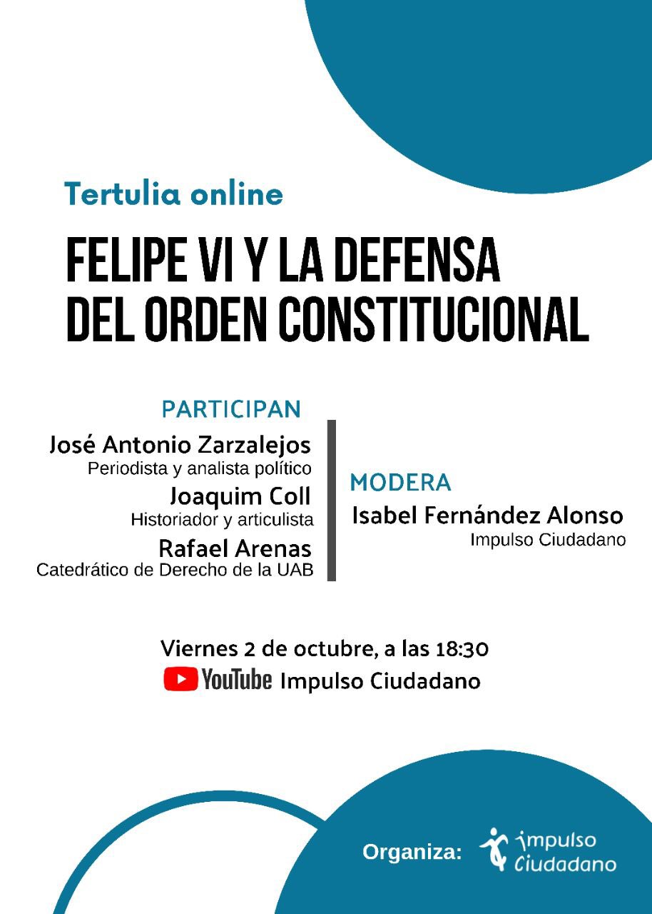"""Tertulia """"Felipe VI Y La Defensa Del Orden Constitucional"""", Con Zarzalejos, Coll Y Arenas"""