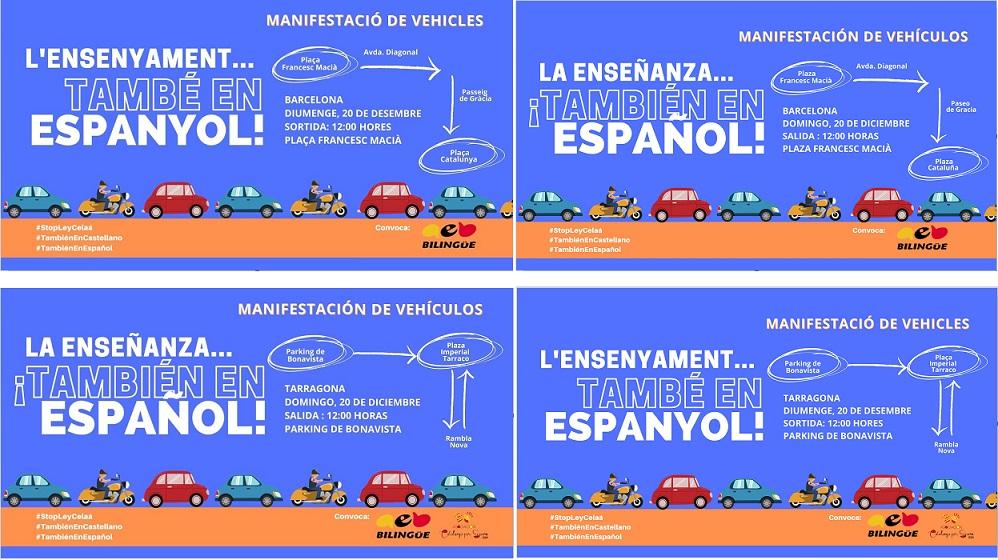 Impulso Ciudadano Apoya La Manifestación De La AEB En Defensa Del Español Como Lengua Vehicular De Enseñanza